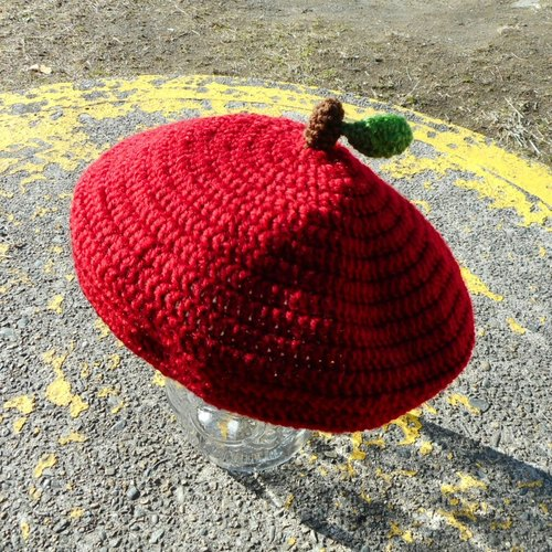 apple beret for kids 【crochet/handmade】