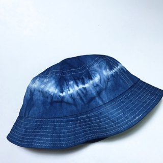 Blue dyed fisherman hat | Electrocardiogram
