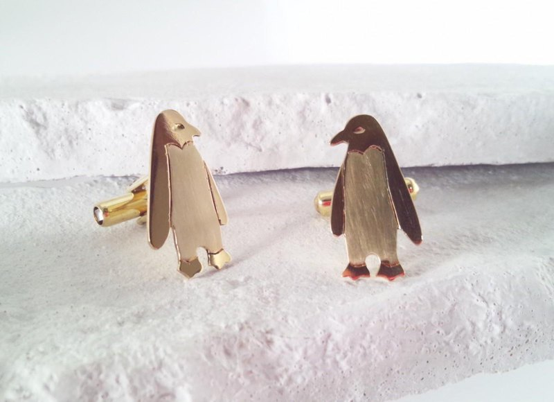 PENGUIN Brass Cufflinks
