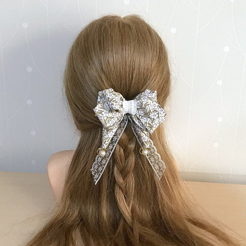Beige/Pianpian Dream Butterfly Hair Clip Automatic Clip French Clip Spring Clip Hair Loop Hair Tie Hair Fork
