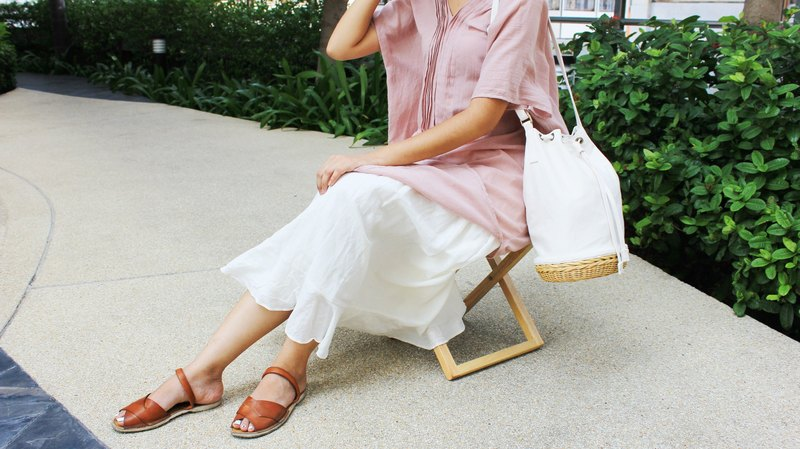 White Bucket bag