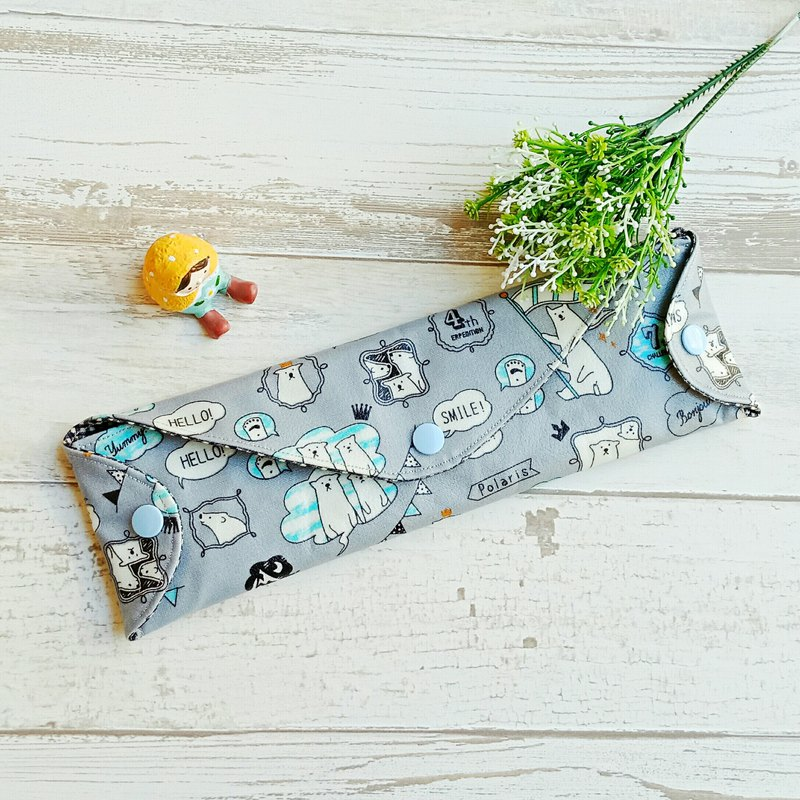 [waterproof and environmentally friendly tableware bag] gray bear