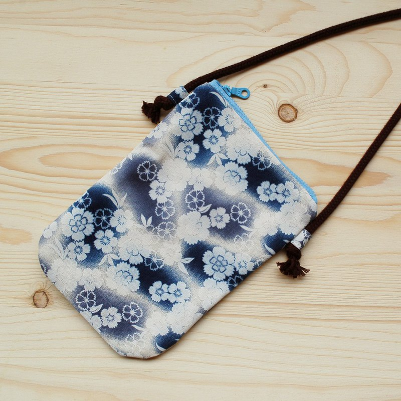 Gradient cherry blossom mobile phone bag