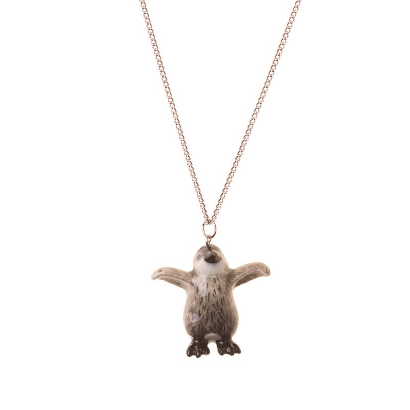 "And Mary Small Penguin Necklace | 18""/22"" 
