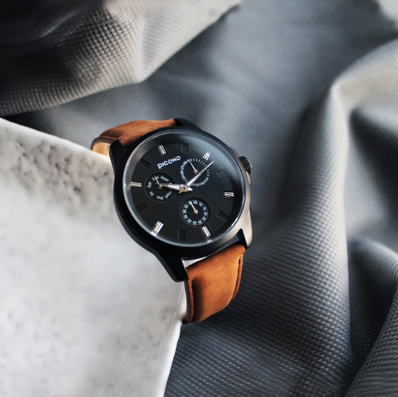 NO.91 collection minimalist fashion watch / Black