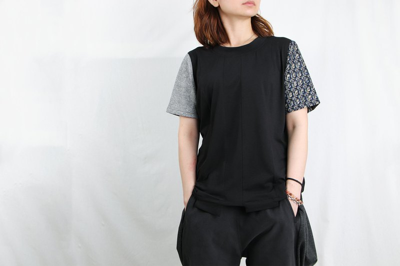 MANA.Design / Double Sleeve Multi-Color Panel Top