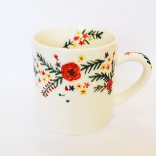Small hand-painted mug - small garden (spot) Christmas, exchanging gifts, fast arrival
