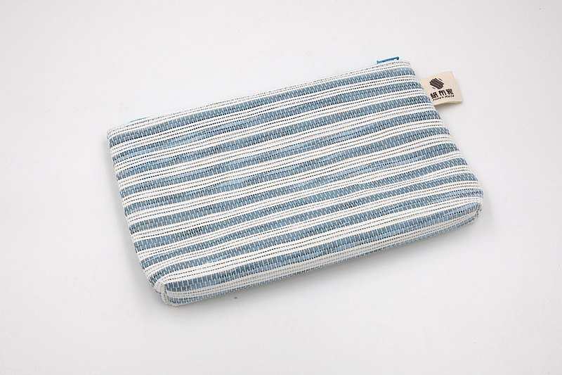 【Paper Home】 Paper woven cosmetic bag blue and white