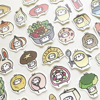 Hot pot illustration sticker