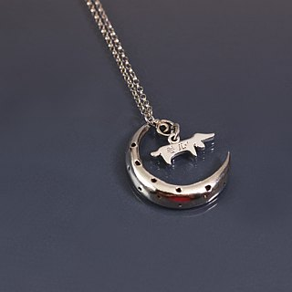 Take me to the moon 925 silver necklace