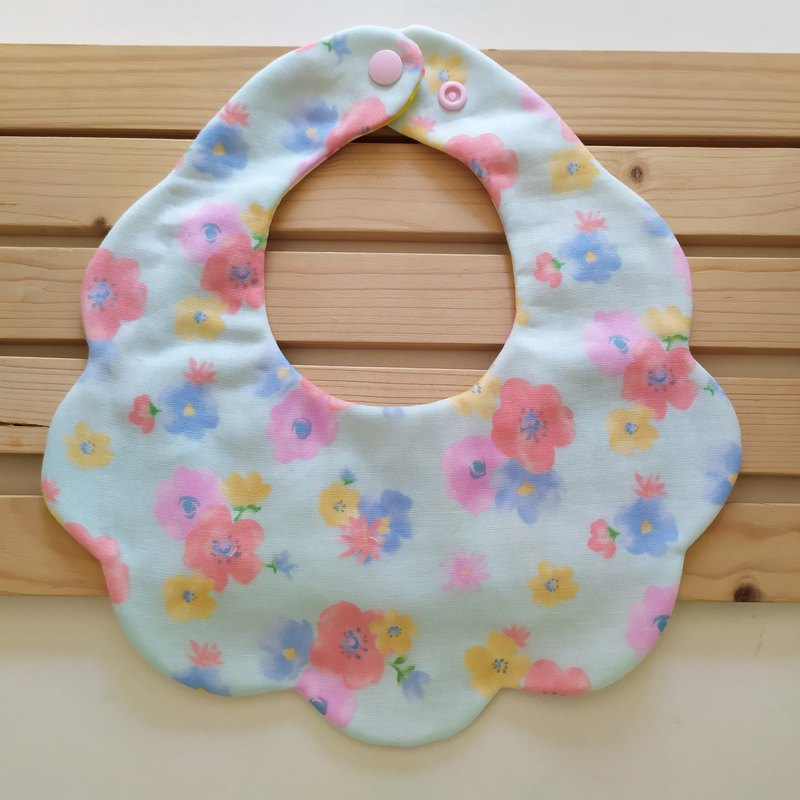 Japanese cotton gauze watercolor flower cotton yarn cloud bib baby bib baby bib