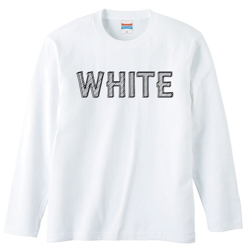 [Long sleeve T-shirt] white