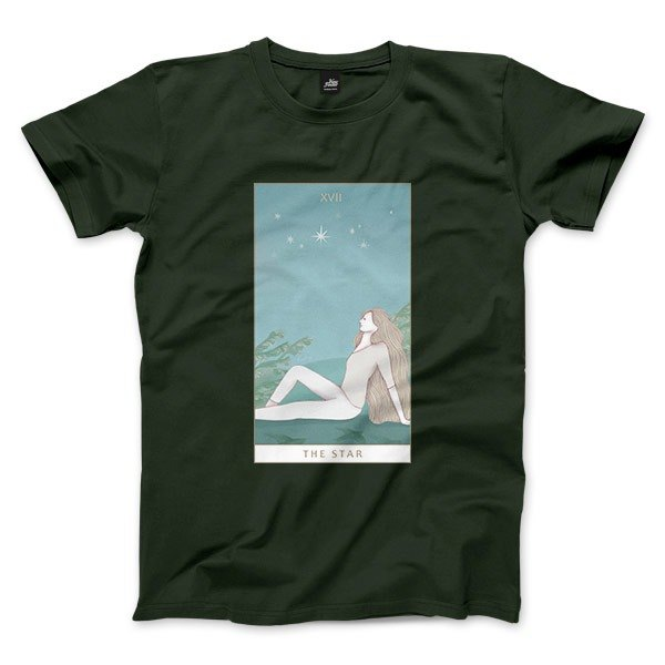 XVII | The Star - Forest Green - Unisex T-Shirt