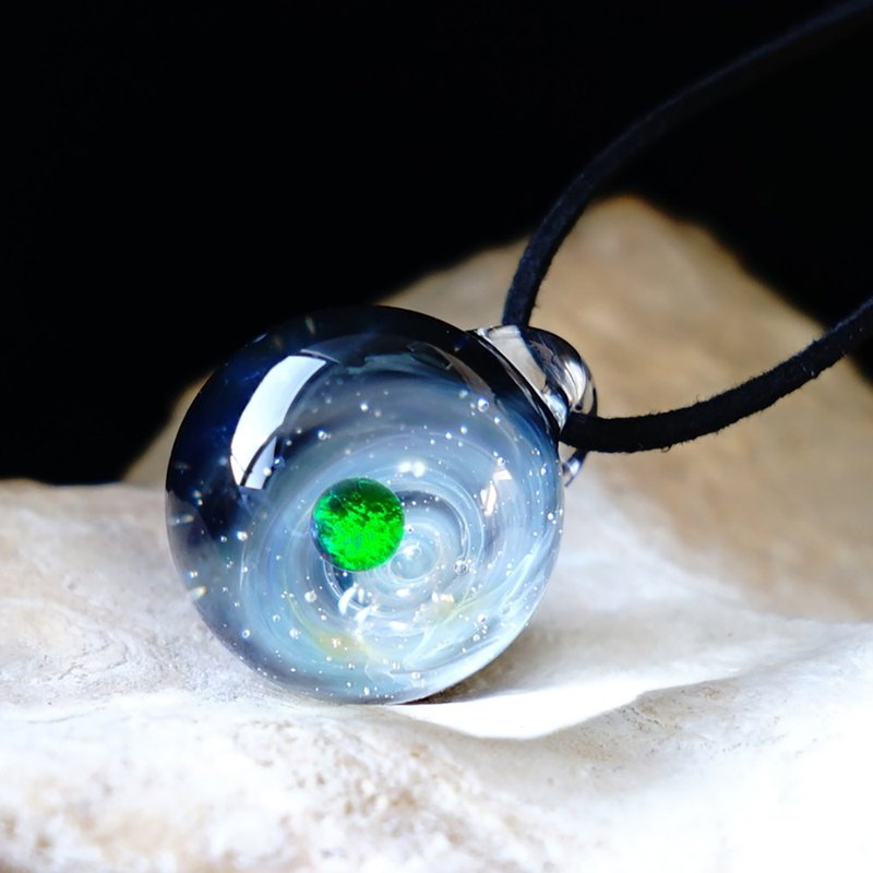 Planetary, world of meteorite Milky Way RGB Opal meteorite Universe glass pendant Star with real meteorite Japanese design Japanese handmade production Handmade free shipping