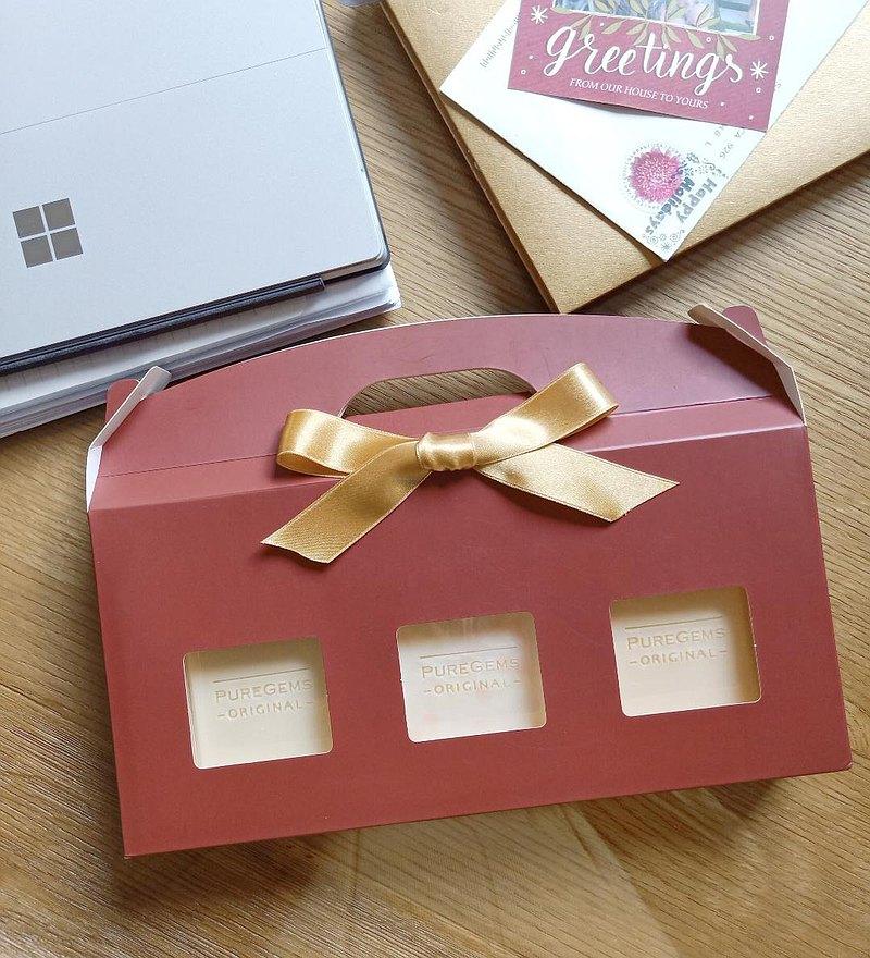 。 紅紅禮盒。 六款皂 任選  三入 手工皂 禮盒。