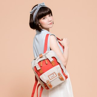 [Christmas Gift] Doughnut Macaron Mini Backpack - Chestnut Sweet Orange