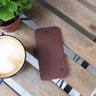 Optima iPhone 8/7 side squat standing protective shell knit coffee red