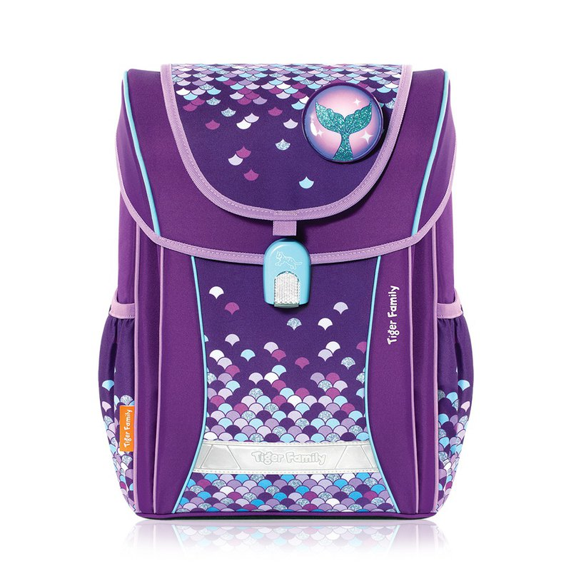 Tiger Family College Style Ultra Lightweight Spinal Shoulder Bag-Magic Purple