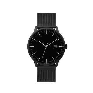 Nando Collection - Noir Black Silver Dial - Black Milan with Adjustable Watch