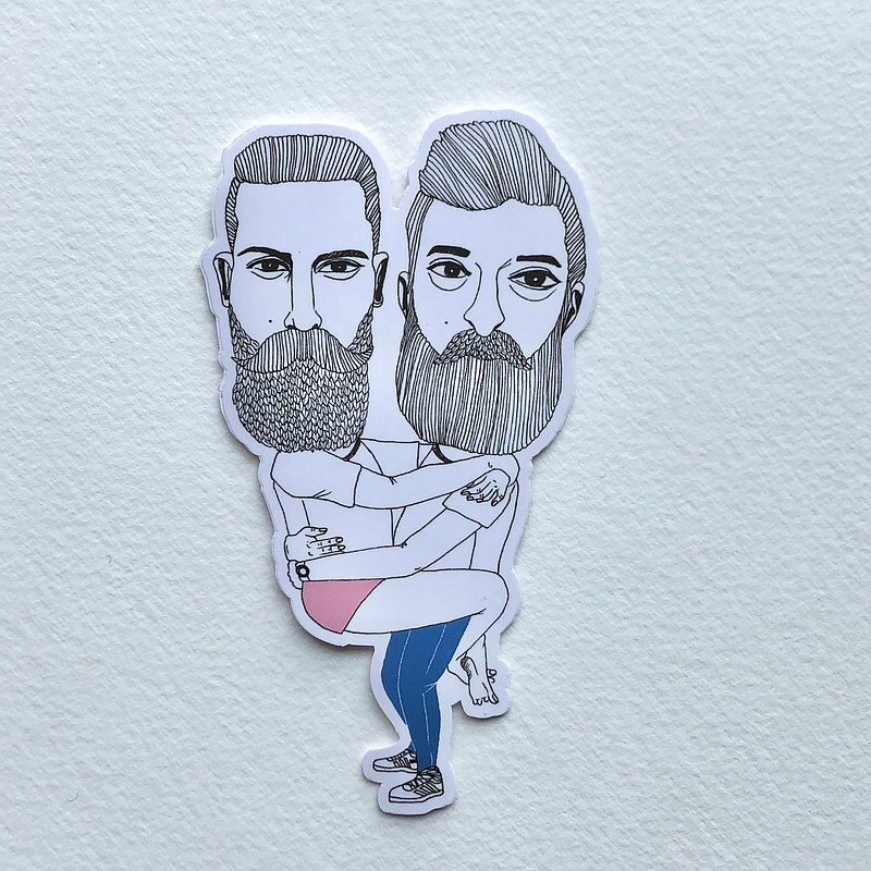 2026 | Beard characters | Small stickers |