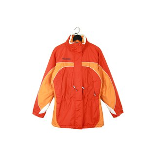 Back to Green :: Windbreaker Cotton Jacket Columbia Bright Orange // Unisex / vintage outdoor (CO-07)
