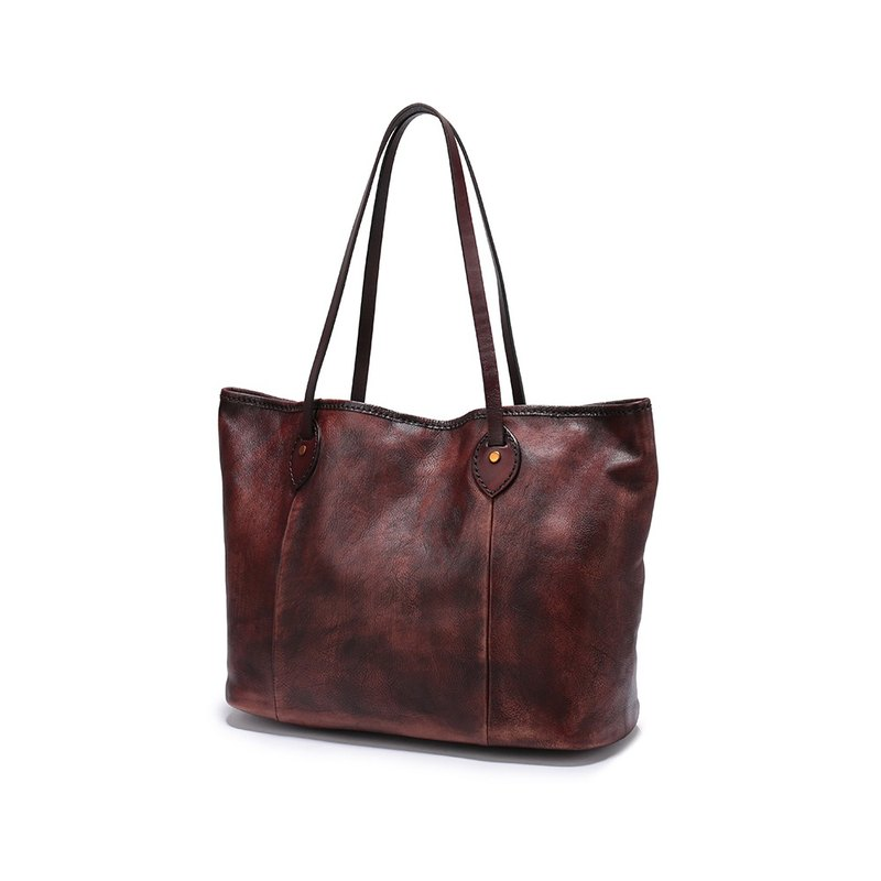Leather Tote Bags, Rustic Large Tote Bag, Brown Travel Bag, Large Leather Tote