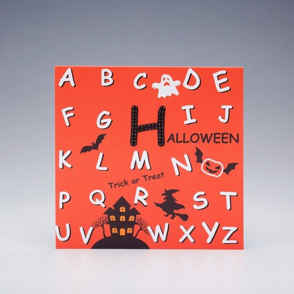 [] GFSD Rhinestone Collectibles - Hand letter blessing Halloween card