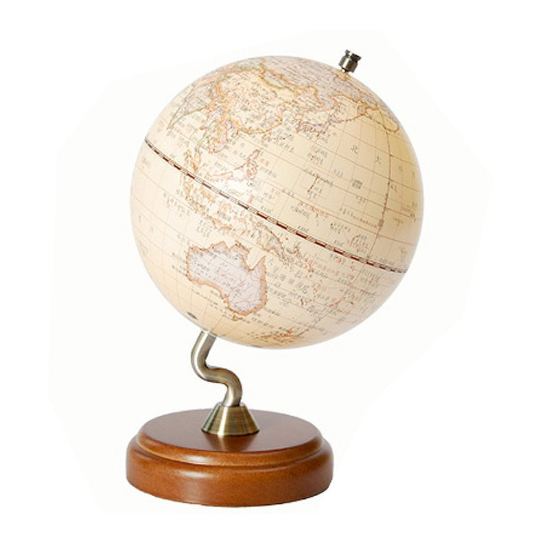 SkyGlobe 10吋 antique wooden base stereo globe (in English and Chinese)