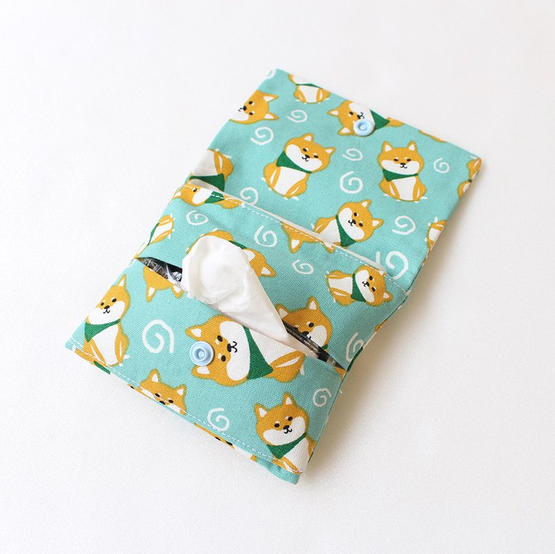 Shiba Inu dual-use facial tissue bag + sanitary tampon storage bag