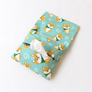 Shiba Inu dual-use face paper bag + sanitary tampon storage bag