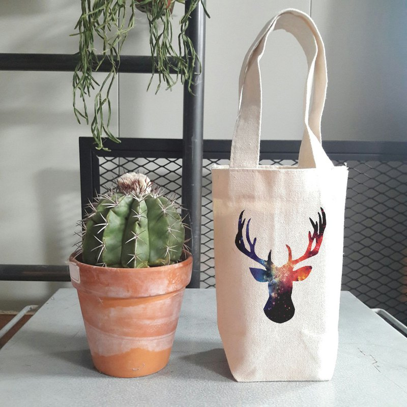Cosmic Stag little cotton bag