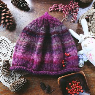Handmade Handmade - Twisted Chestnut Hat - Wool Knitted Cap
