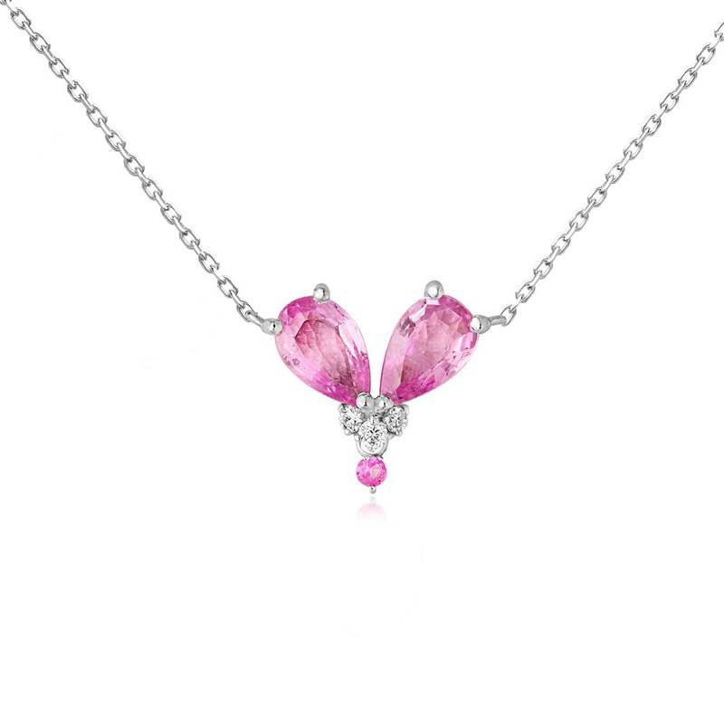 [brilliantia] 10K Pink Heart - Necklace - (PT0132)