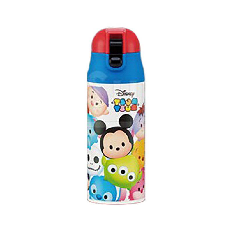 Japan SKATER - 360mL Pop-up Straw Stainless Steel Thermos - TSUM TSUM