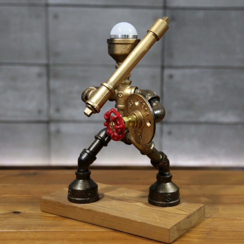 New industrial wind pipe robot table lamp handmade creative gift ornaments