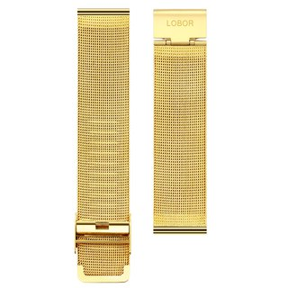 Stainless Steel Mesh Band Stainless Steel Mesh Belt with Gold Replaceable Strap