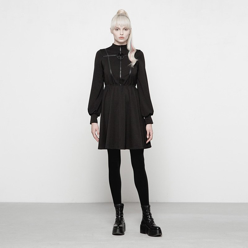 Pagan high collar dress