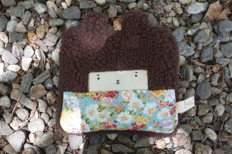 Bunny Rabbit Coin Purse - Coco Fat -59 Retro Garden