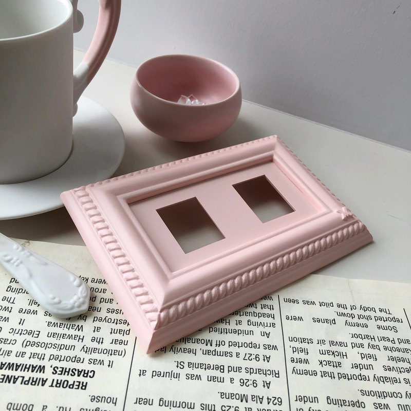 VaMarssa Neo-Classic Double Hole Socket Panel (Pink)