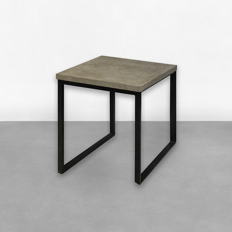 Cement square tube mouth table CU032