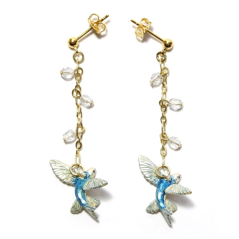 Flying Fish Pierced flying fish Earrings PA449
