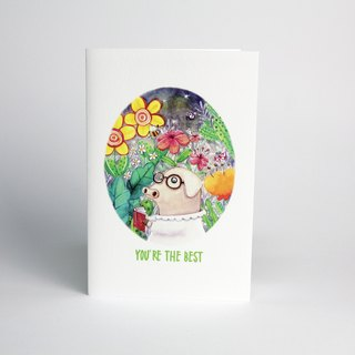 You're The Best Universal Card / Greeting Card / Birthday Card / Thank You Card
