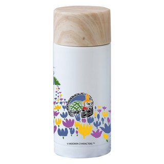 Moomin Moomin rice - wood cover thermos (white)