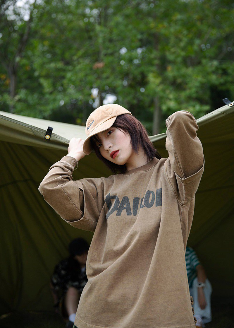 DAIKON19/AW LAYERED TEE heavy loose sweater trend retro washed fake two long-sleeved T-shirt