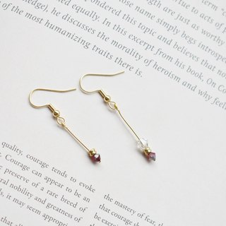 Zhu. Handmade earrings - parallel lines