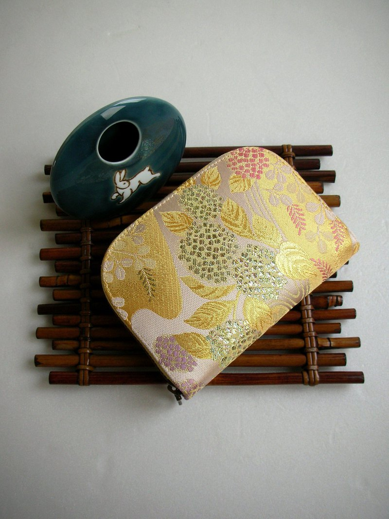 "Jingxi Array Jin Jin Jin Weaving ""Hydrangea Water Orchid"" - Short Clip / Wallet / Coin Purse / Gift"