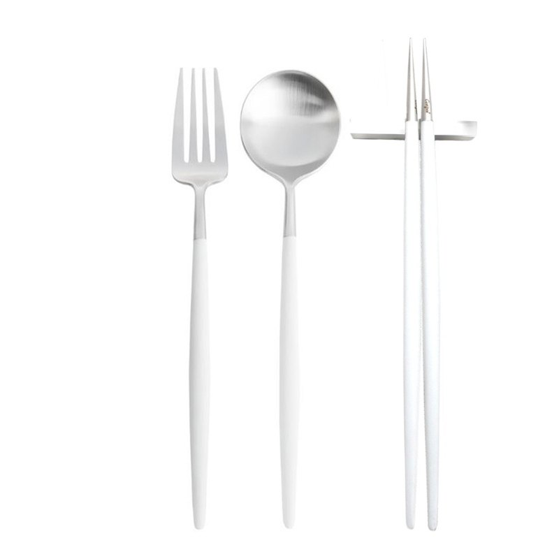 | Cutipol | GOA White Matte 3 Pieces Set (Table Spoon/ Fork/ Chopsticks Set)
