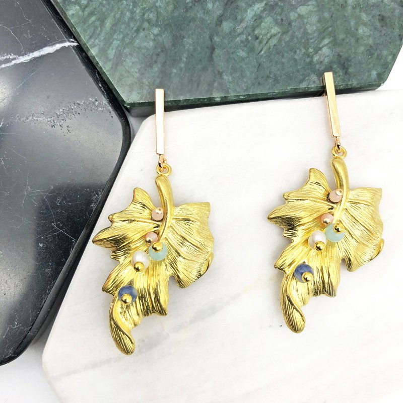 Minimalism - 925 Silver Gold Plated Earrings VII 【 New Year Gift】 Valentines Day