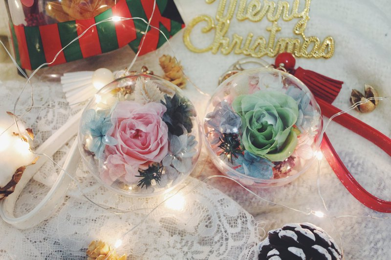 啵啵 flower ball / tassel key ring / dry flower / no withered flowers / Christmas gifts / free Christmas packaging