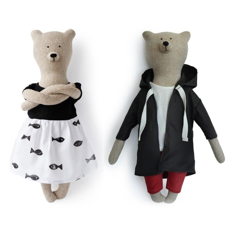 PK bear | Sherlock Holmes Detective + Louisa Bear 40cm Deluxe Set (with 2 brackets included)